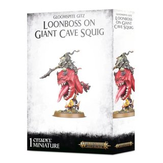 Age of Sigmar - Gloomspite Gitz - Loonboss on Giant Cave...