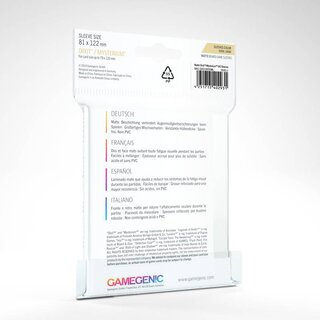 Matte - Board Game Sleeves (90 Stück) 81 x 122 mm (Clear)