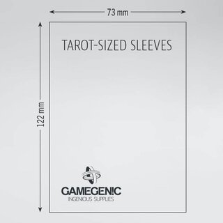 Matte - Board Game Sleeves (50 Stück) 73 x 122 mm (Clear)