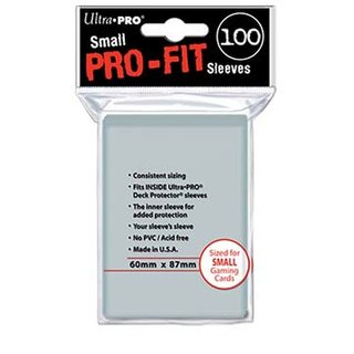 Small Sleeves - Pro-Fit Card (100 Sleeves) (60 x 87 mm)