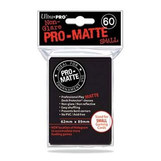 Small Sleeves - Pro-Matte - 60 Sleeves (62 x 89 mm) (schwarz)