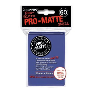 Small Sleeves - Pro-Matte - 60 Sleeves (62 x 89 mm) (blau)