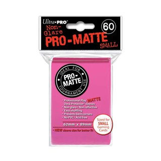 Small Sleeves - Pro-Matte - 60 Sleeves (62 x 89 mm) (hell pink)