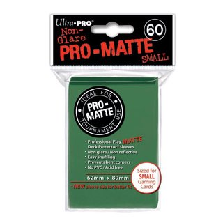 Small Sleeves - Pro-Matte - 60 Sleeves (62 x 89 mm) (grün)