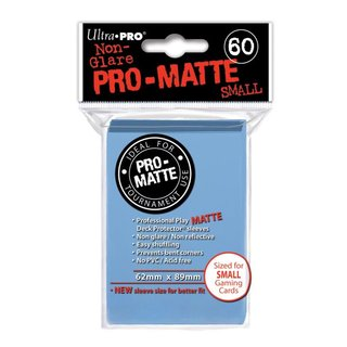 Small Sleeves - Pro-Matte - 60 Sleeves (62 x 89 mm) (hell blau)