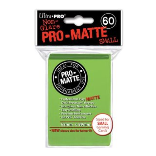 Small Sleeves - Pro-Matte - 60 Sleeves (62 x 89 mm) (hell grün)