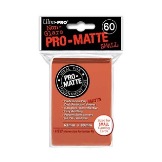Small Sleeves - Pro-Matte - 60 Sleeves (62 x 89 mm) (peach)