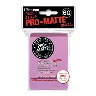 Small Sleeves - Pro-Matte - 60 Sleeves (62 x 89 mm) (pink)