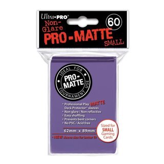 Small Sleeves - Pro-Matte - 60 Sleeves (62 x 89 mm) (lila)