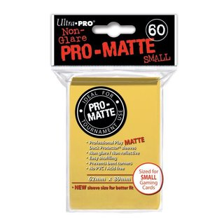 Small Sleeves - Pro-Matte - 60 Sleeves (62 x 89 mm) (gelb)
