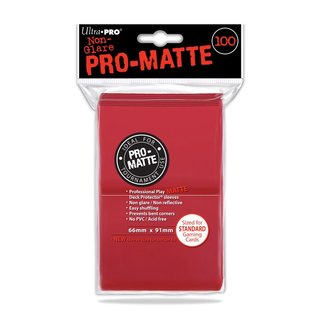 Standard Deck Protector - PRO-Matte 100 Sleeves (66 x 91 mm) (rot)