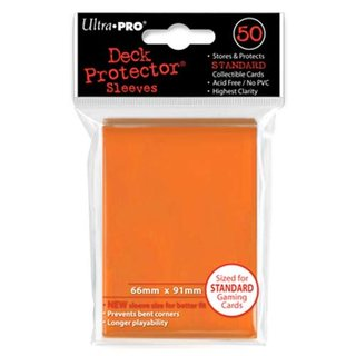 Standard Sleeves - 50 Sleeves (66 x 91 mm) (orange)