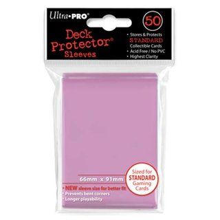 Standard Sleeves - 50 Sleeves (66 x 91 mm) (pink)