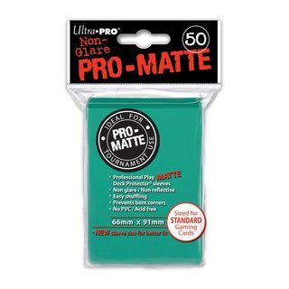 Standard Sleeves - PRO-Matte - Non Glare - 50 Sleeves (66 mm x 91 mm) (aqua)