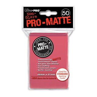 Standard Sleeves - PRO-Matte - Non Glare - 50 Sleeves (66 x 91 mm) (fuchsia)
