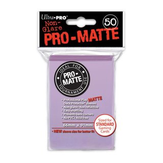 Standard Sleeves - PRO-Matte - Non Glare - 50 Sleeves (66 x 91 mm) (lila)