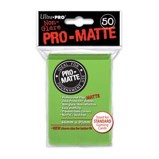 Standard Sleeves - PRO-Matte - Non Glare - 50 Sleeves (66 x 91 mm) (limonengrün)