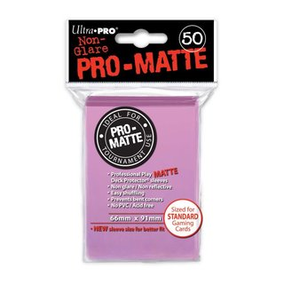 Standard Sleeves - PRO-Matte - Non Glare - 50 Sleeves (66 x 91 mm) (pink)