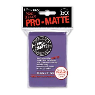 Standard Sleeves - PRO-Matte - Non Glare - 50 Sleeves (66...