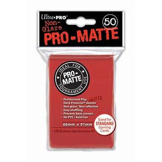 Standard Sleeves - PRO-Matte - Non Glare - 50 Sleeves (66 mm x 91 mm) (rot)