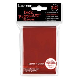 Standard Sleeves - 50 Sleeves (66 x 91 mm) (rot)